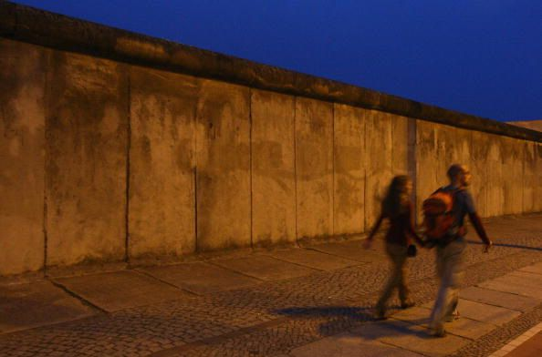 An old photograph of the Berlin Wall