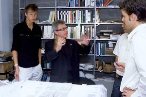 The Principal of an architecture practice, like Daniel Libeskind show here, is at the center of decision making.