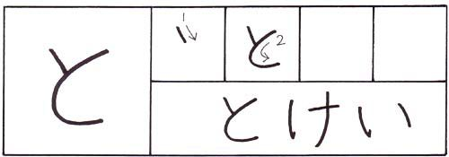 how to write the hiragana to character