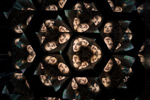 Kaleidoscope portraits of a female
