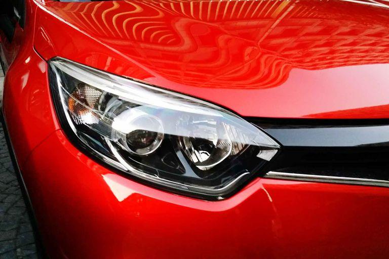 A car's headlight.