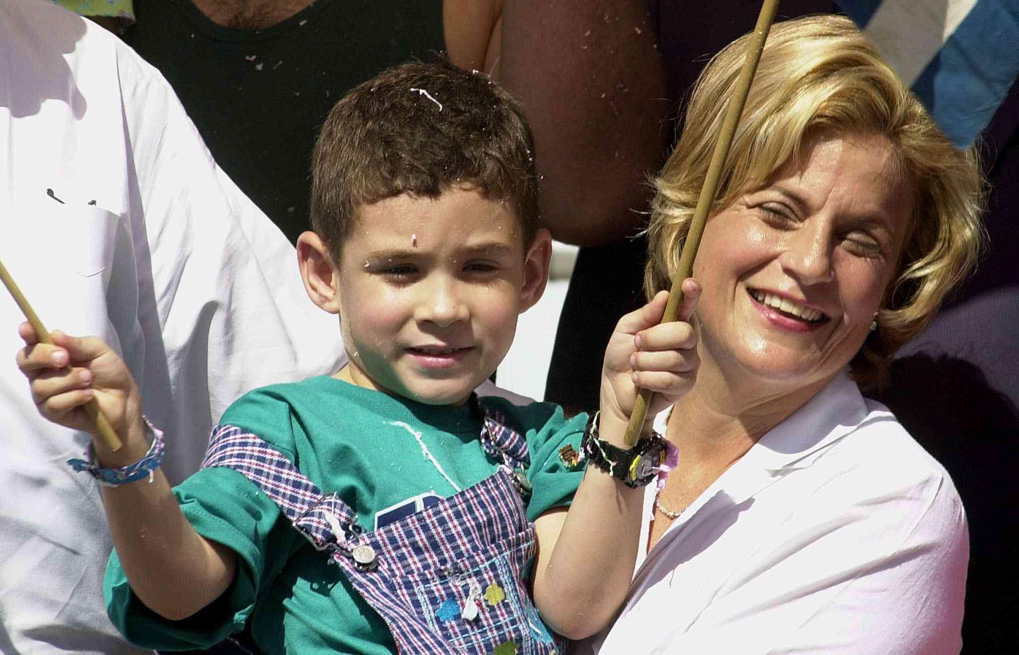 Elián González and Representative Ileana Ros-Lehtinen