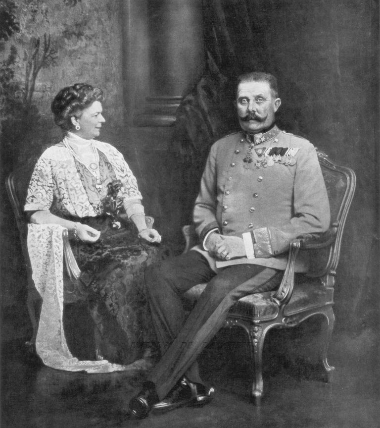 Archduke Franz Ferdinand and wife Sophie