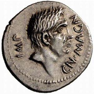 Roman Imperatorial Silver Denarius of Cn. Pompeius Junior with M. Minatius Sabinus