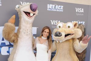 Actress Jennifer Lopez arrives at the screening Of 'Ice Age: