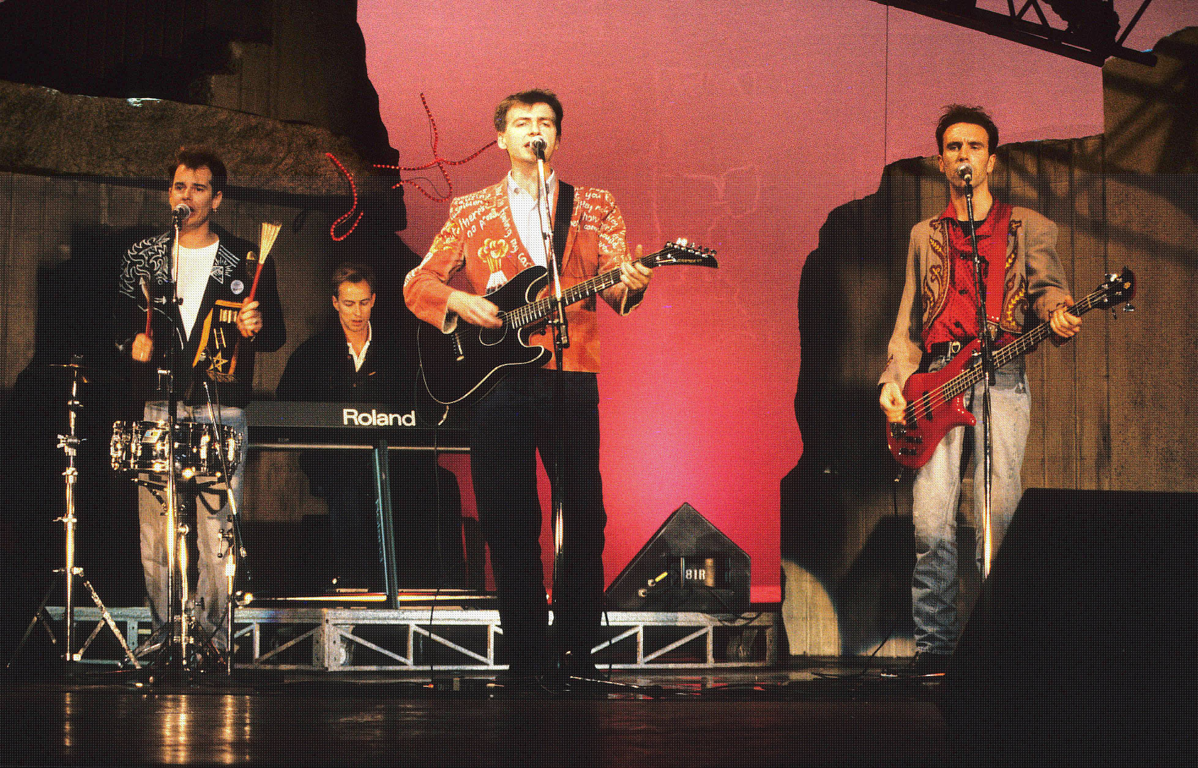 Australian Rock Band Crowded House Performs Live During The Late