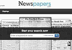 A subscription-based historical newspapers website, owned by Ancestry.com.