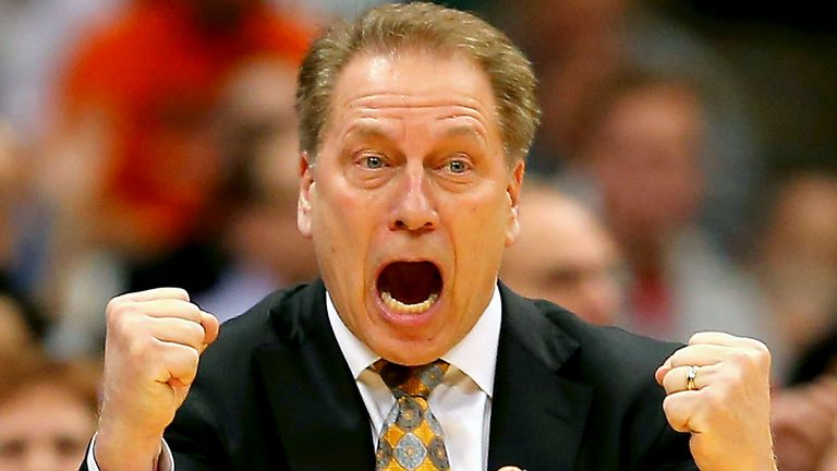 Tom Izzo angry about something