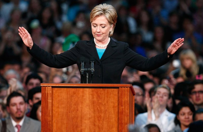Hillary Clinton concedes the race for the Democratic presidential momination, 2008
