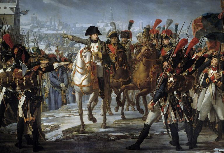 Napoleon I Haranguing His Troops Before the Attack of Augsburg by Claude Gautherot