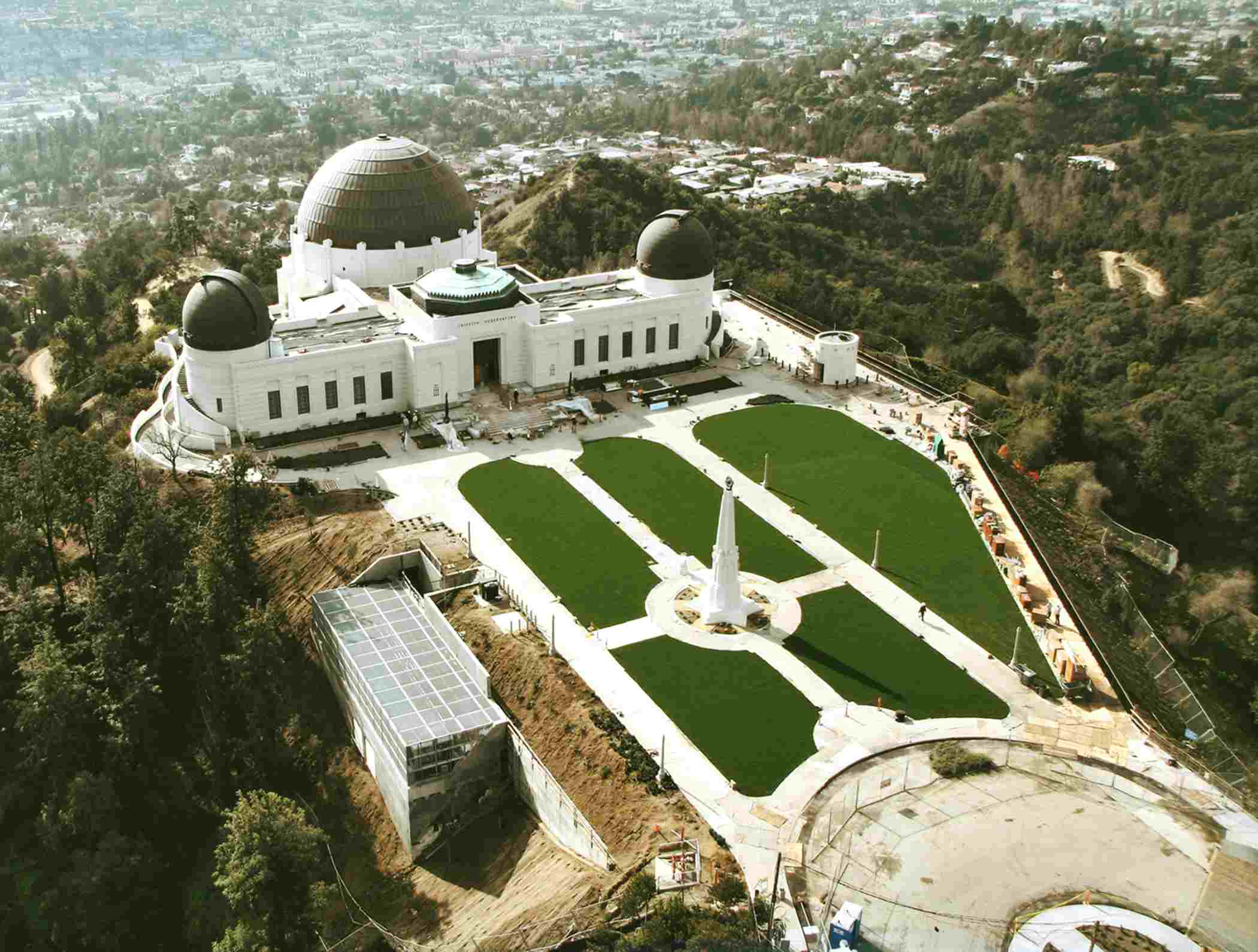 Griffith Observatory from the air.