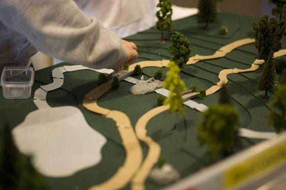 Photographie d'un parc modèle créé par un architecte paysagiste de l'école primaire.
