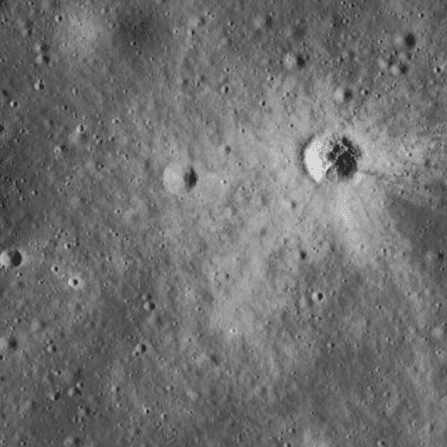 Impact Crater on the Lunar Surface