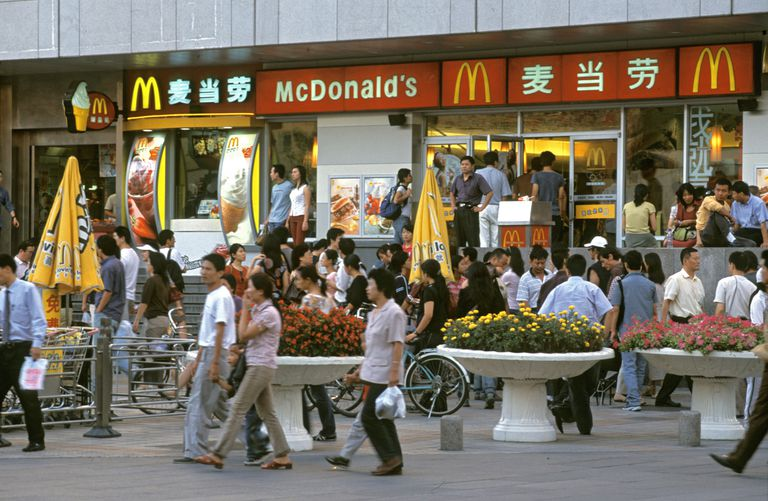 A McDonald's location in China