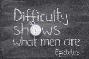 quote of ancient Greek philosopher Epictetus