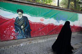 Wall of America Embassy in Tehran