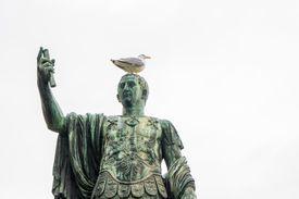 A statue of Roman emperor Nerva, or Marcus Cocceius Nerva Caesar Augustus