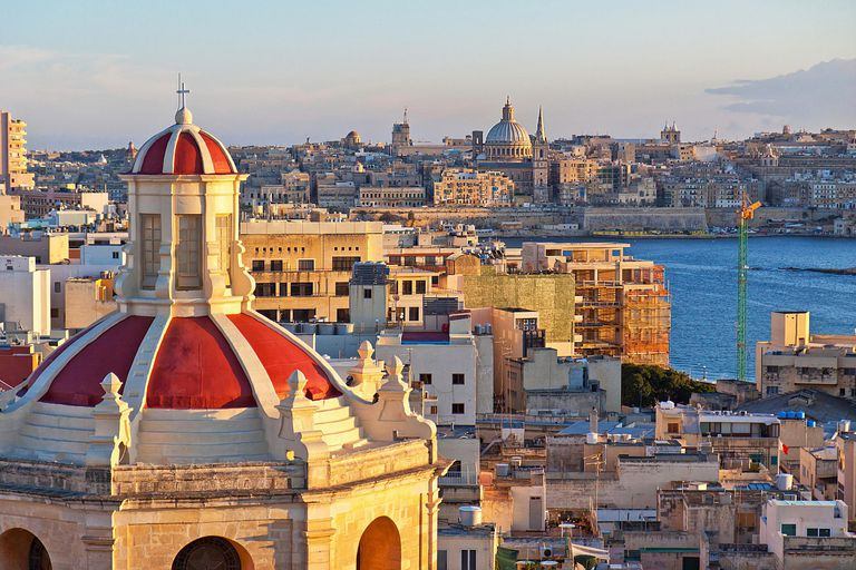 Elevated city view of Malta