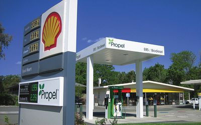 a propel fuels and shell gass station