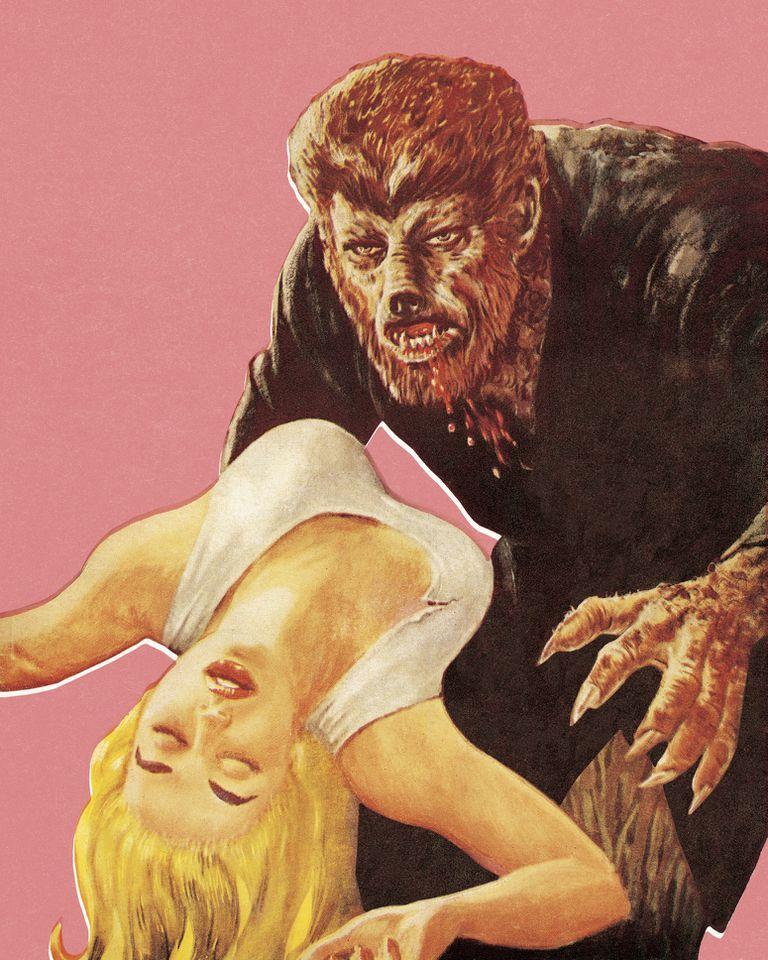 Werewolf with prey