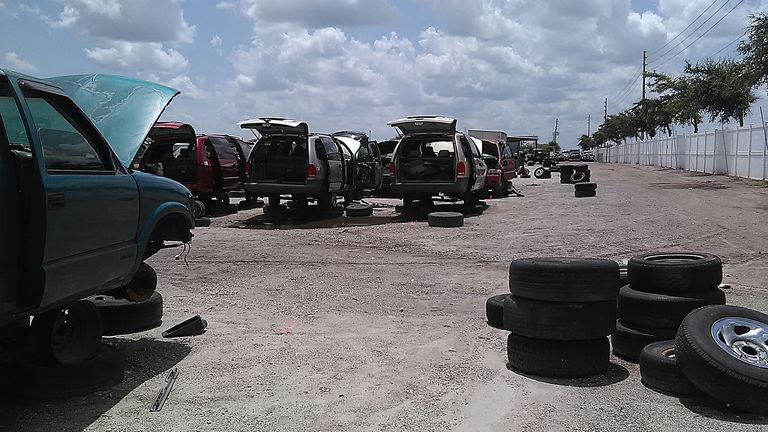 Cars in a Junkyard