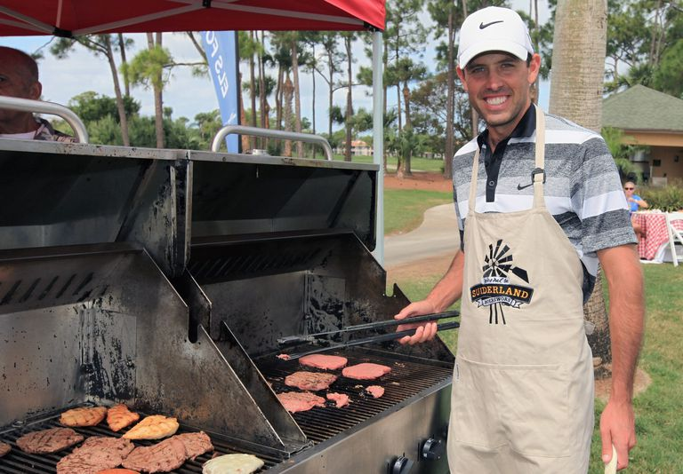 Charl Schwartzel's Champions Dinner barbecue