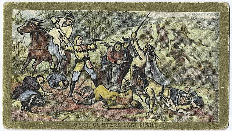 Little Bighorn on a Trading Card