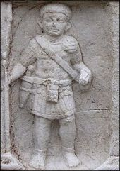 Marble 1st century A.D. Roman Naval Soldier