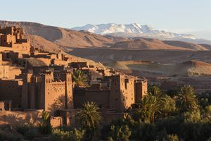 Ait Benhaddou Kasbah at dawn, Morocco