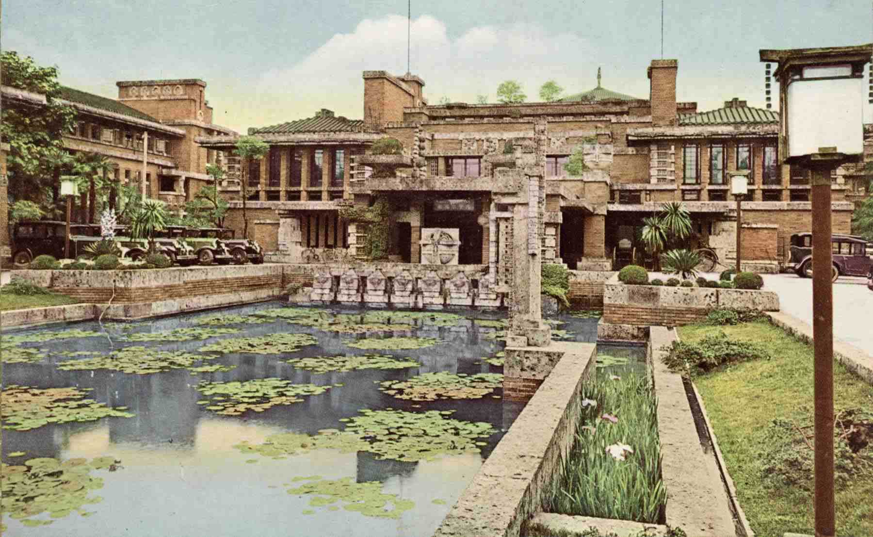 Exterior View of Frank Lloyd Wright's Imperial Hotel in Tokyo