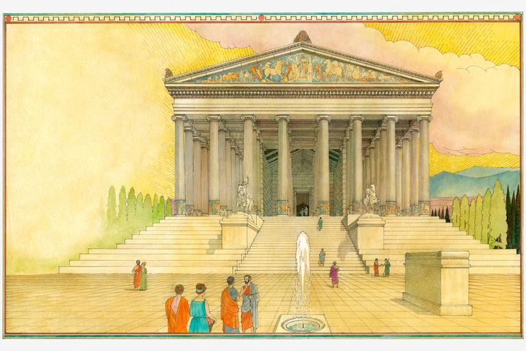 Illustration of the Temple of Artemis