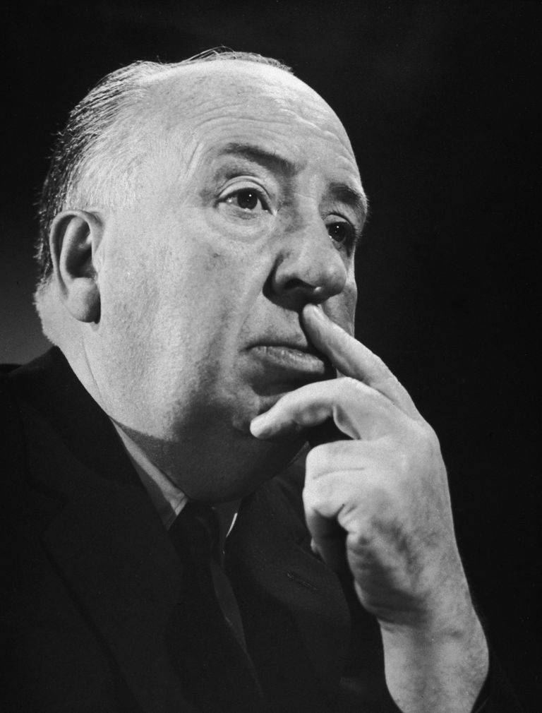 Picture of British film director Alfred Hitchcock.