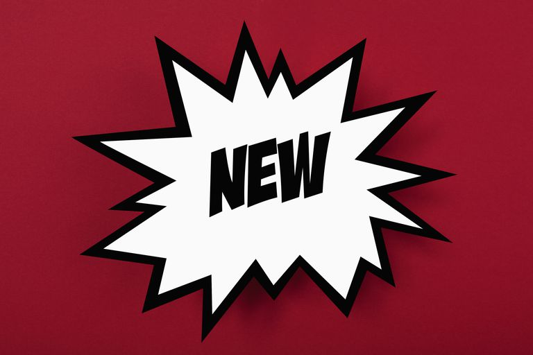 "A graphic of the word ""new"""