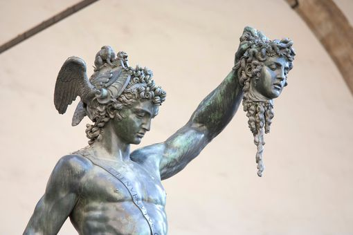 Sculpture of Perseus and Medusa by Cellini (1554)