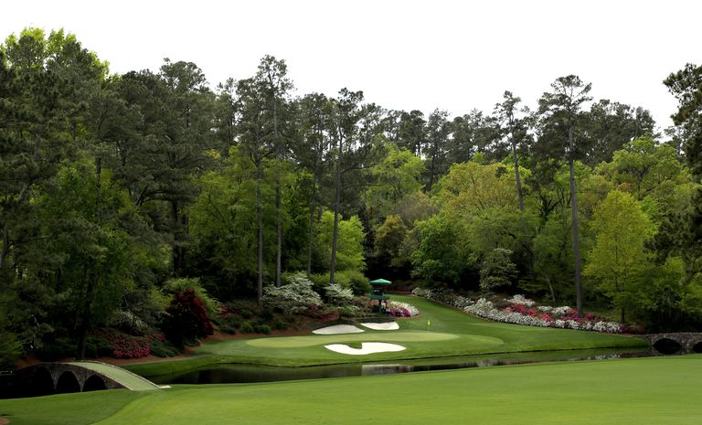 12th green at Augusta National Golf Club