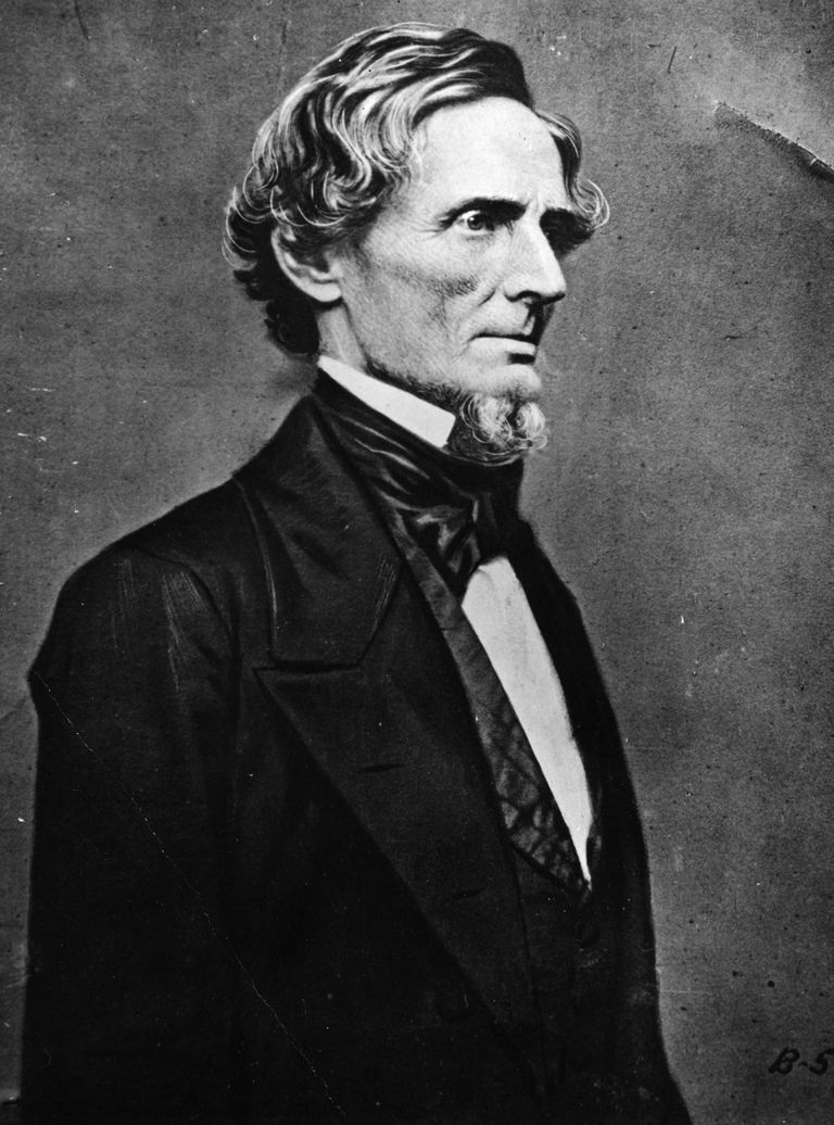 Portrait of Jefferson Davis.