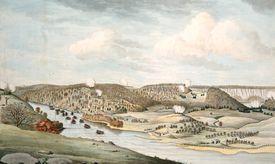 illustration of the Battle of Fort Washington