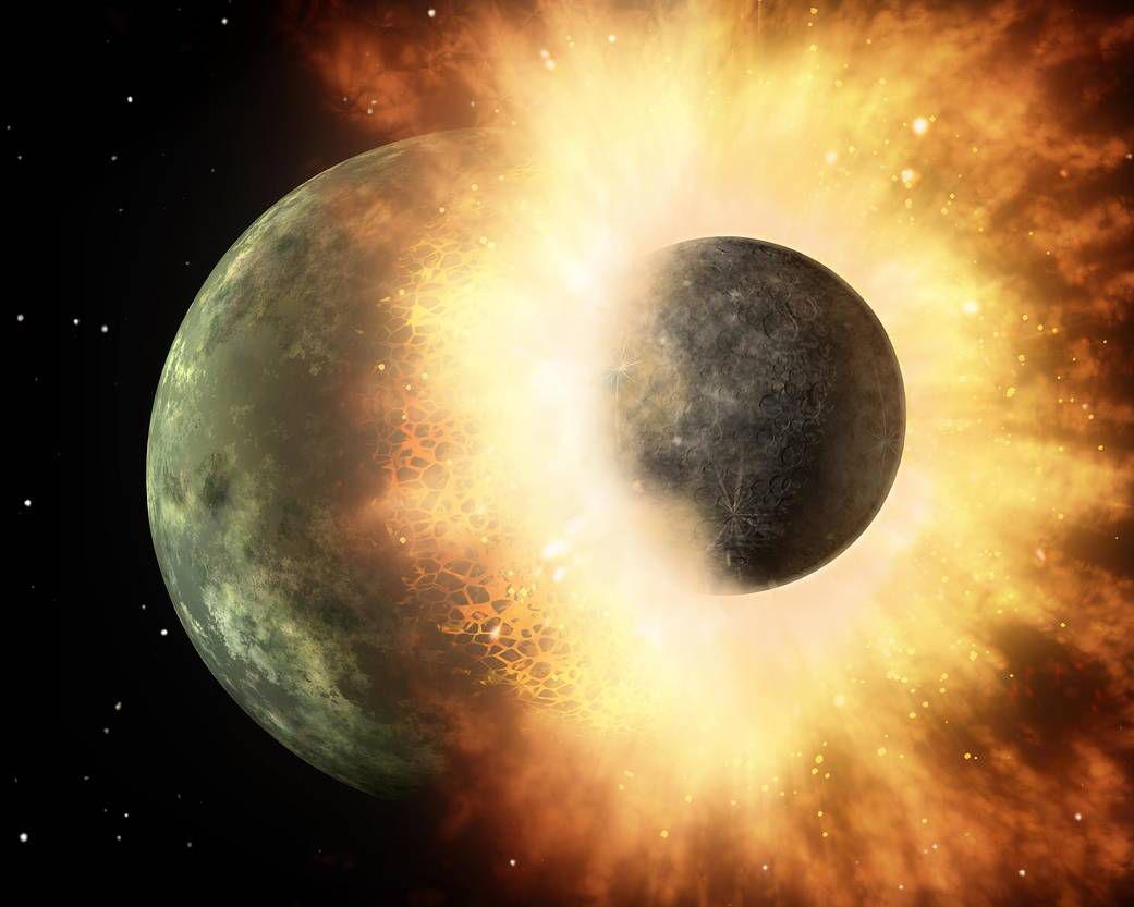 One idea of the Moon's formation.
