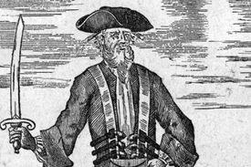 Blackbeard with sword