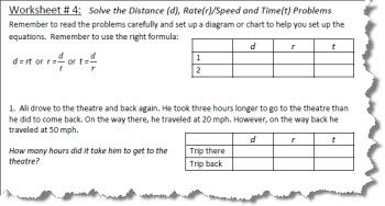Distance rate and time worksheets with answers distance rate and time worksheet 4 ibookread PDF