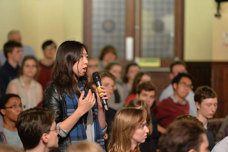 Student during debate