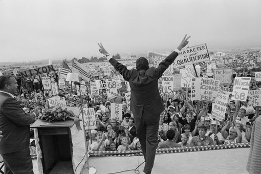Richard Nixon campaigning in 1968
