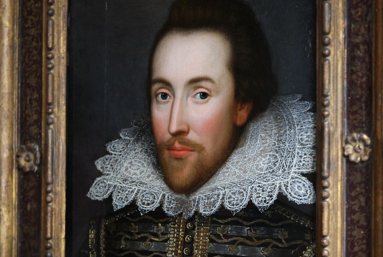 A painting of William Shakespeare
