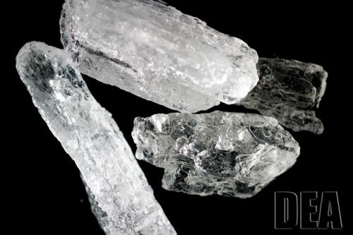 This is a photo of crystal meth that was confiscated by the US Drug Enforcement Agency.