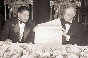 President Enrique Penaranda of Bolivia, and President Roosevelt of the United States