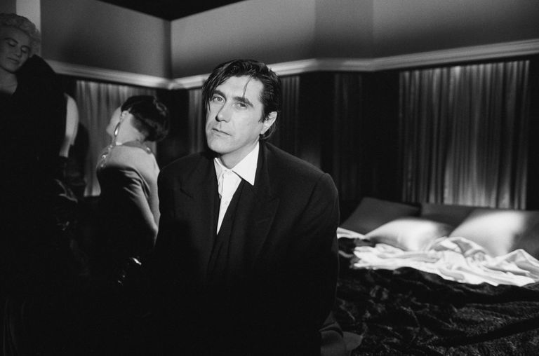 Singer Bryan Ferry on video set