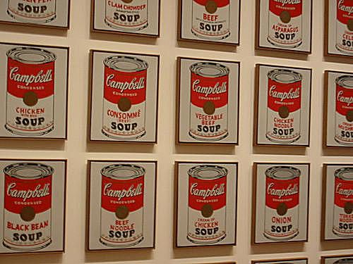 Andy Warhol's Soup Tin Paintings