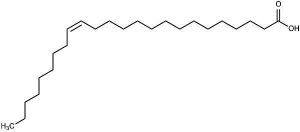 Esta es la estructura química del ácido selacoleico.