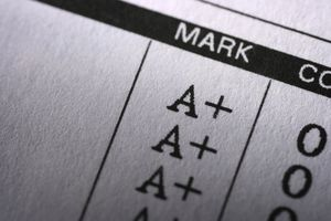 Report card with perfect grades