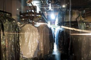 A dry cleaning facility